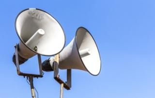 vintage horn speaker for public relations