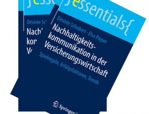 """Springer Publikation: """"Nachhaltigkeitskommunikation in der Versicherungswirtschaft"""""""